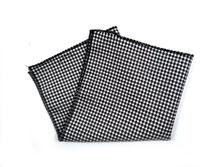 Herren Anzug Fliege zum selbstbinden in schwarz weiß kariert - Schleife