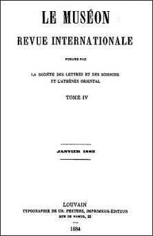 Charles de HARLEZ (1832-1899) : L'infanticide en Chine. Le Muséon, 1884, vol. IV, pages 205-210, 273-280, 428-436.