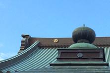 遊行寺の屋根のクローズアップ