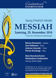 Plakat zum Messiah-Konzert am 29.11.2014