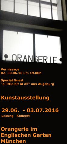 Ausstellung Linda Ferrante Englischer Garten München - Orangerie
