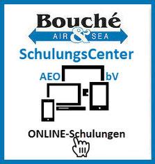 Logo ONLINE-Schulungen LuftSi für bekannte Versender, reglementierte Beauftragte, zugelassene Transporteure, reglementierte Lieferanten: SchulungsCenter AEO & bV der Bouché Air & Sea GmbH