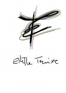 logo avec les initiales E et T entremêlées