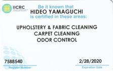 米国IICRC公認OCT(臭気対策技術者)