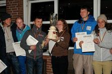 """Platz 2 in der Kategorie """"mixed pairs"""" ging an ein Münchner Team (rechts)"""