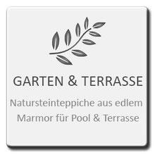Garten und Terrasse, Natursteinteppiche aus edlem Marmor für Pool und Terrasse