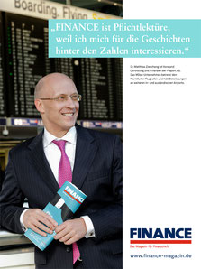 AD Campaign Finance Magazin by Klaus Lange, CFO Fraport, Dr. Matthias Zieschang