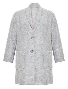 Damen-Mantel grau  XXL