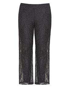 schwarze Spitzenhose in Übergrößen , günstige Hosen in Gr 48