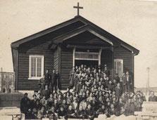 木造仮会堂 (1925年3月献堂)