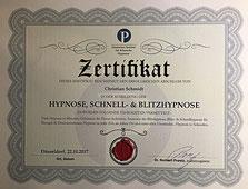 Zertifikat Hypnosetherapie und Klinische Hypnose