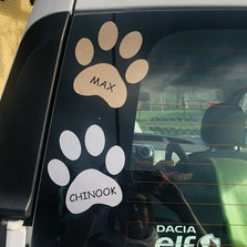 Druckatelier46 - Autoaufkleber mit Hundenamen oder Tiernamen