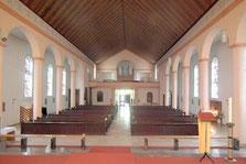 Kirche St. Hubertus, Jägersfreude, Blick zum Eingang