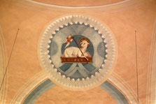St. Hubertus, Jägersfreude, Kalotte, Lamm-Gottes-Motiv
