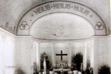 Apisbogen, 1928, mit ursprünglicher Beschriftung, Foto: Kirchengemeinde