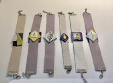 bracelet cuir verre Ath