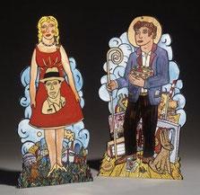 "Moritz Götze  ""Das Sammlerpaar"" Emailmalerei auf Metall"