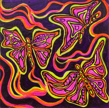 Holy Butterflies - 50 x 50 cm (20 x 20 In)