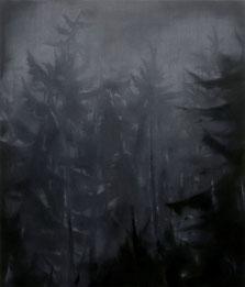 Matthieu van Riel Schilderijen. Wald Empfindung (2) 140x120cm acryl en olie op canvas 2017