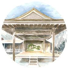 朝ドラ「おかえりモネ」舞台の登米市にある登米能の森舞台