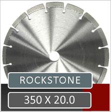 prodito slijpschijf 350mm x 20.0mm voor het verzagen van ebema rockstone met een benzine doorslijper