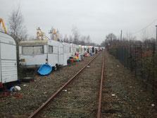 Photo prise sur la voie ferrée le 3 février dernier