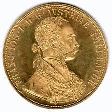 Investieren in das Edelmetall Gold Vierfach Dukaten (Vorderseite)