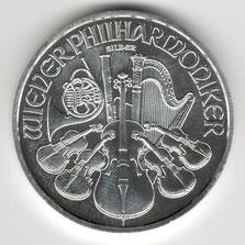 Investieren in das Edelmetall Silber Wiener Philharmoniker 1 Unze (Rückseite)
