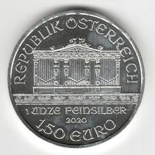 Investieren in das Edelmetall Silber Wiener Philharmoniker 1 Unze (Vorderseite)