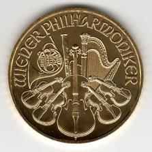 Investieren in das Edelmetall Gold Wiener Philharmoniker 1 Unze (Rückseite)