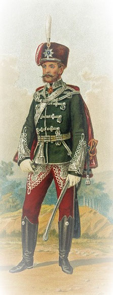 Bild: Ausschnitt aus Wikimedia Commons - https://commons.wikimedia.org/wiki/File:Husar_Grodno_Guard_Regiment.jpg
