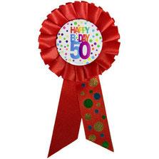Rozet stippen Happy Birthday 50 € 2,95