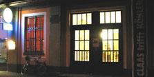 Außenansicht des Kunstraum Bahnhofs Mainkur im Frankfurter Osten