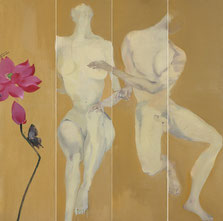 蝶儿伴舞2 WITH BUTTERFLY 2 180X180CM 布面油画  OIL ON CANVAS  2008