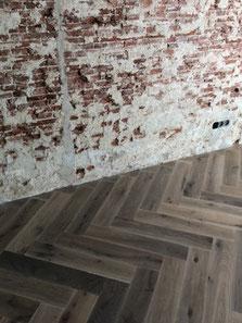 Visgraatvloer op vloerverwarming