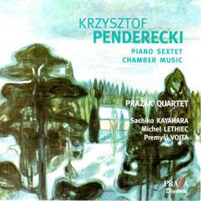 Pražák Quartetピアノ萱原(榊原)祐子ペンデレツキ室内楽作品集