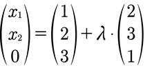 Ansatz zur Berechnung des Spurpunktes einer Geradengleichung