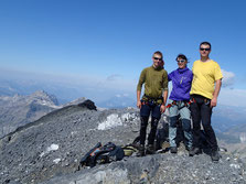 Magnifique sommet du Ruan pour Gatien, Corinne et Christophe. Bravo!