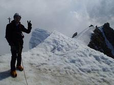 Gérard au sommet du Tacul