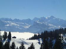 Vue superbe sur le Mt-Blanc depuis La Rosta