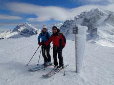 Bernadette et Christian au sommet