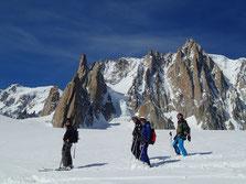 Super panorama depuis le Glacier du Géant