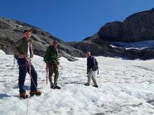Oscar, Rupert et Adrian et le Glacier du Ruan