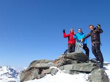 Didier, Alain et Christophe au sommet