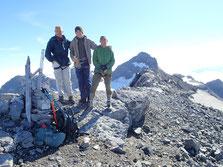 La famille Brown au sommet du Ruan