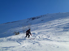 Beau ski dans la Coupe à Milleret