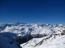 Ouais, bon ... Panorama pas mal au nord, du Mont Blanc au Dolent ... ;-)