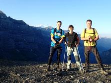 Petit matin et premiers rayons à Sageroux, avec le Mont-Blanc en toile de fond