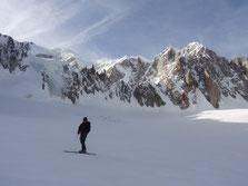 Pause avec vue sur le Mont-Blanc