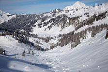 Combe des Drobounes, Mt de Grange et Christophe en bas à gauche